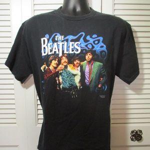 apple corp. Tops - 2001 The Beatles Graphic Print Black T-Shirt L